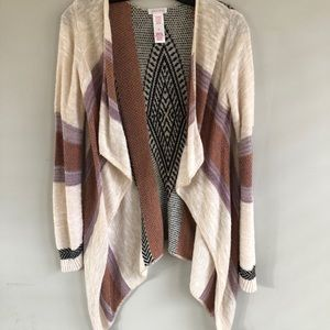 Girls XL / Juniors S/M open front cardigan
